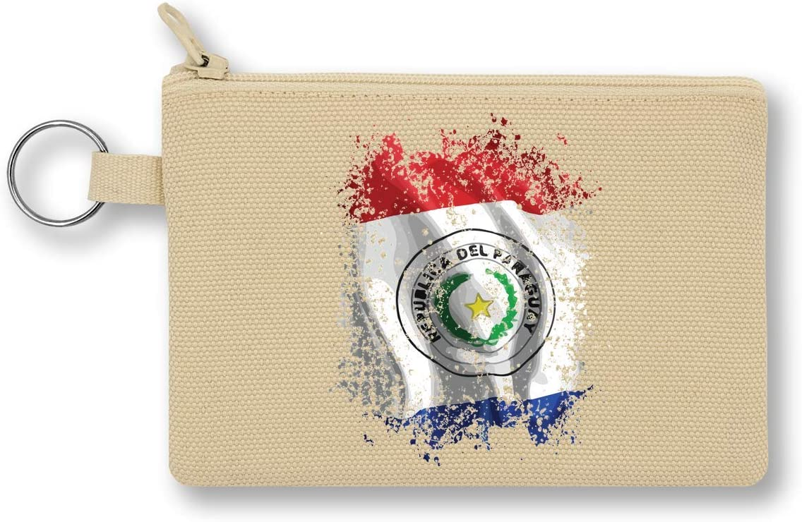 Paraguay South America Asuncion Country Series Nationality Flag Nice To Monedero de Lona con Cremallera Monedero