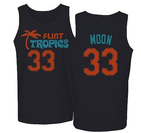 a56b13b43f4 Flint Tropics Jackie Moon 33 Semi Pro Basketball Men s Tank Top (Black ...