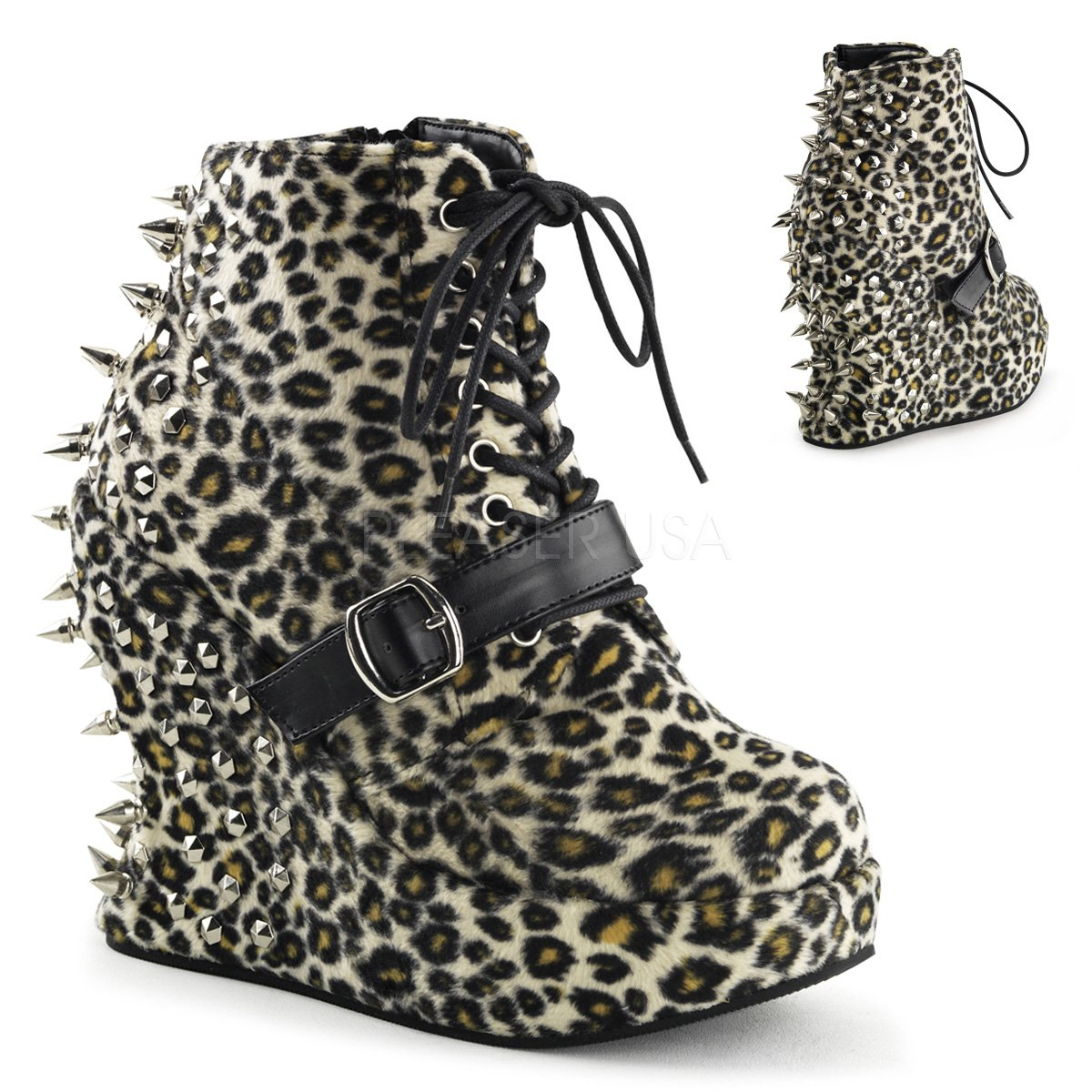 Demonia Women's BRA23/BPU Boot B00GTIHNUM 10 B(M) US|Leopard Print