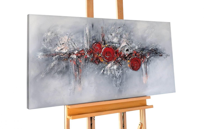 KunstLoft® Acryl Gemälde \'Pearls and Roses\' 120x60cm | original ...