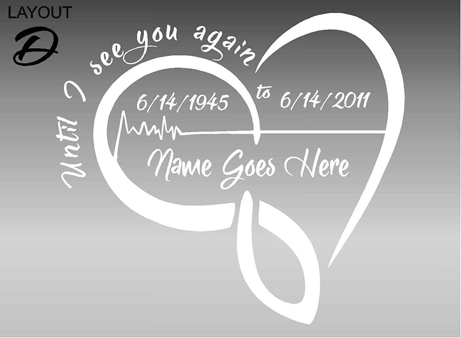 In Loving Memory Of Vinyl Decal Sticker Graphic Personalized Custom Car Window