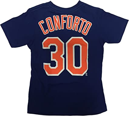 OuterStuff New York Mets V-Neck Boys Youth Jersey Shirt