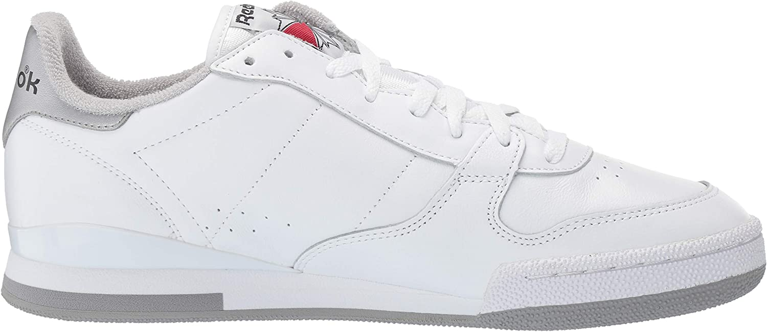 Reebok Phase 1 pour homme White Matte Silver Tin Grey Excellent Red