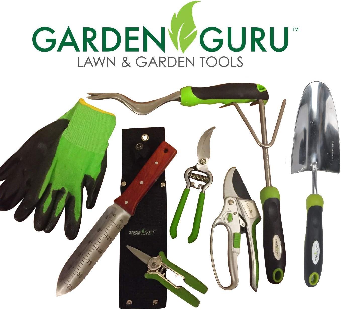 Die Cast Aluminum Weed Puller with Ergonomic Handle for Planting Garden Guru Hand Weeder Flower and Vegetable Care in Lawn Garden Yard Weeding Rust Resistant