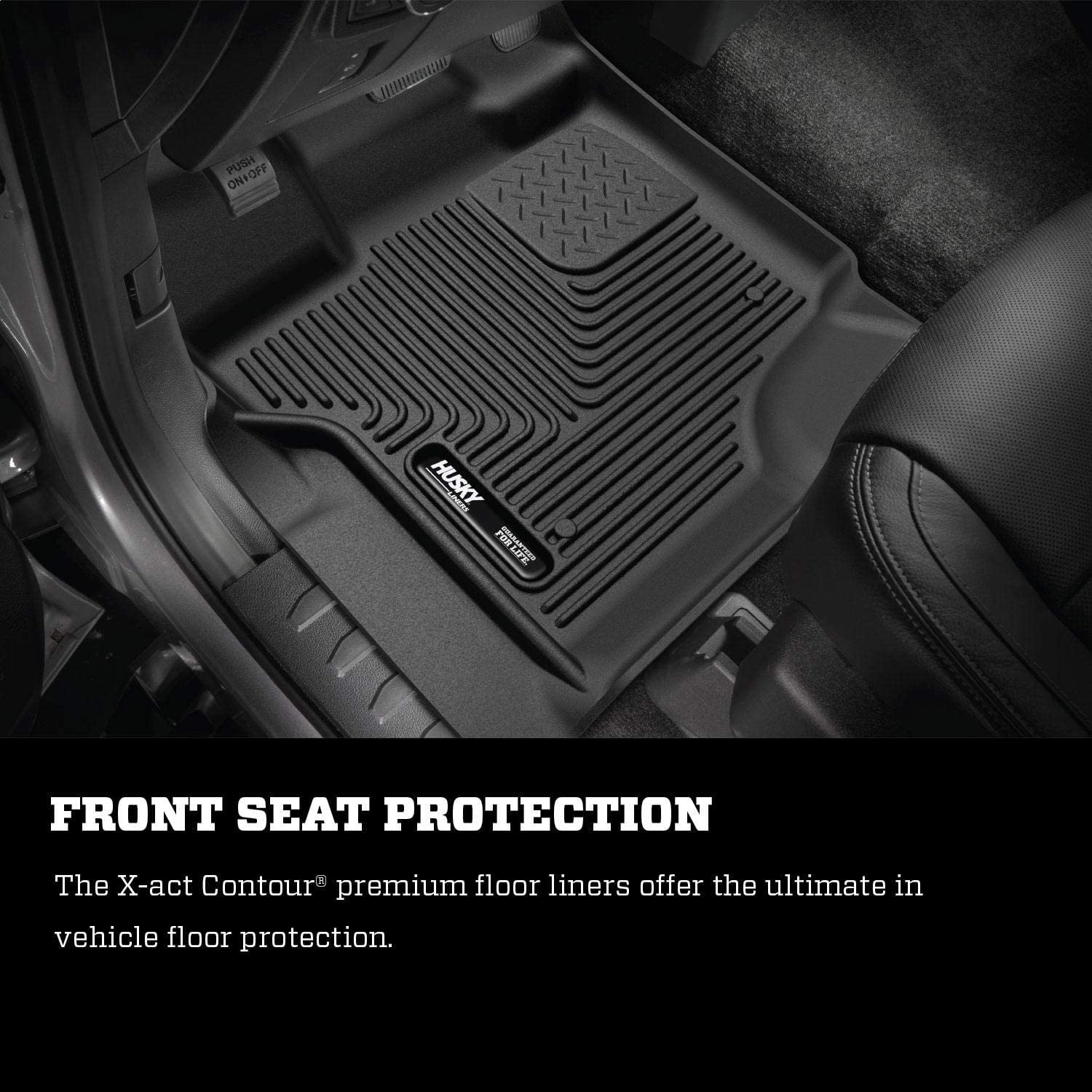 Husky Liners Fits 2015-19 Ford F-150 SuperCrew X-act Contour 2nd Seat Floor Mat Footwell Coverage