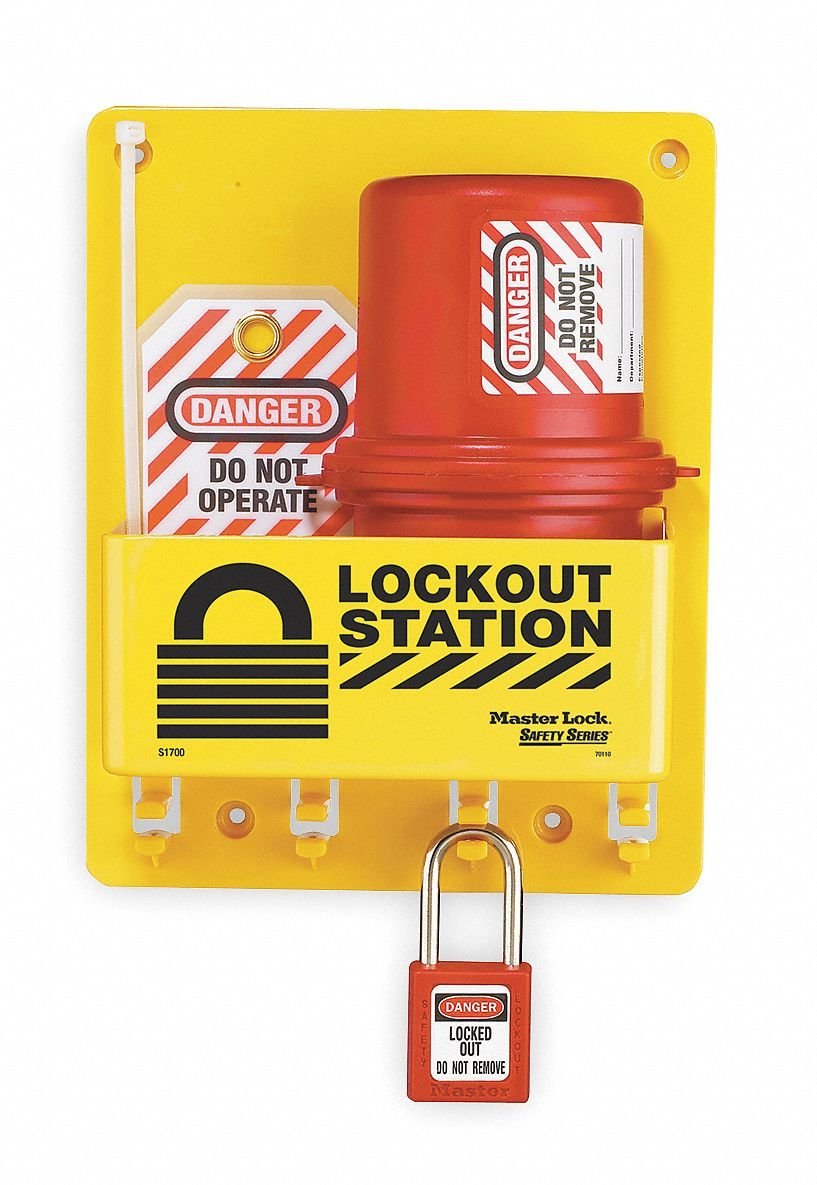 Lockout Station, Filled, Electrical, 8 In W - 1 Each