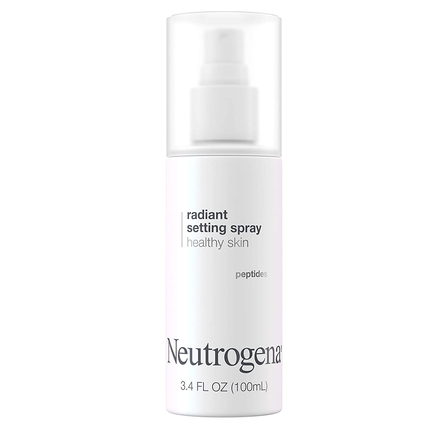 Neutrogena Healthy Skin Radiant Makeup Setting Spray, Long-Lasting, Formulated with Antioxidants & Peptides Weightless Face Setting Mist for Healthy Looking, Glowing Skin, 3.4 fl. oz