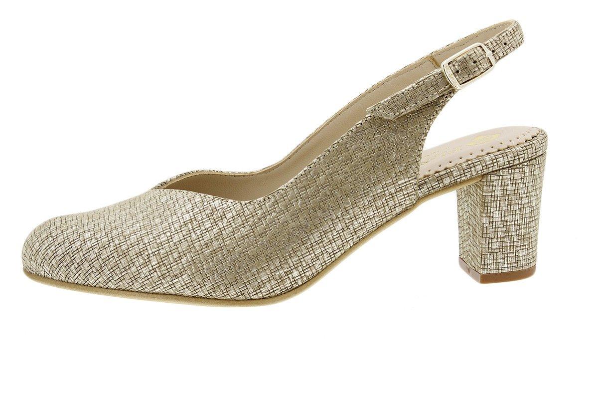 PieSanto Salón Grabado Nude 180229 Zapato Confort 35 EU|Grecia Beig