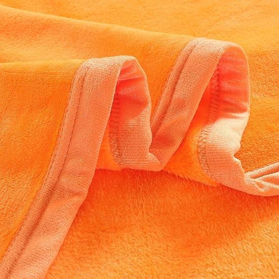 Amazon.com: eDealMax de Felpa Suave Fuzzy Throw Ligera Felpa Caliente (90inch-por-78Inch) Sofá cama King Size Manta, Naranja: Home & Kitchen