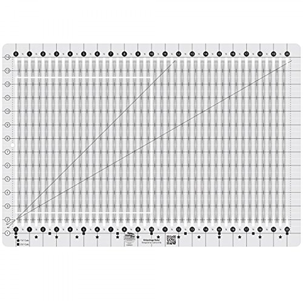 Creative Grids Stripology Slotted Quilting Ruler Template CGRGE1 by Creative Grids