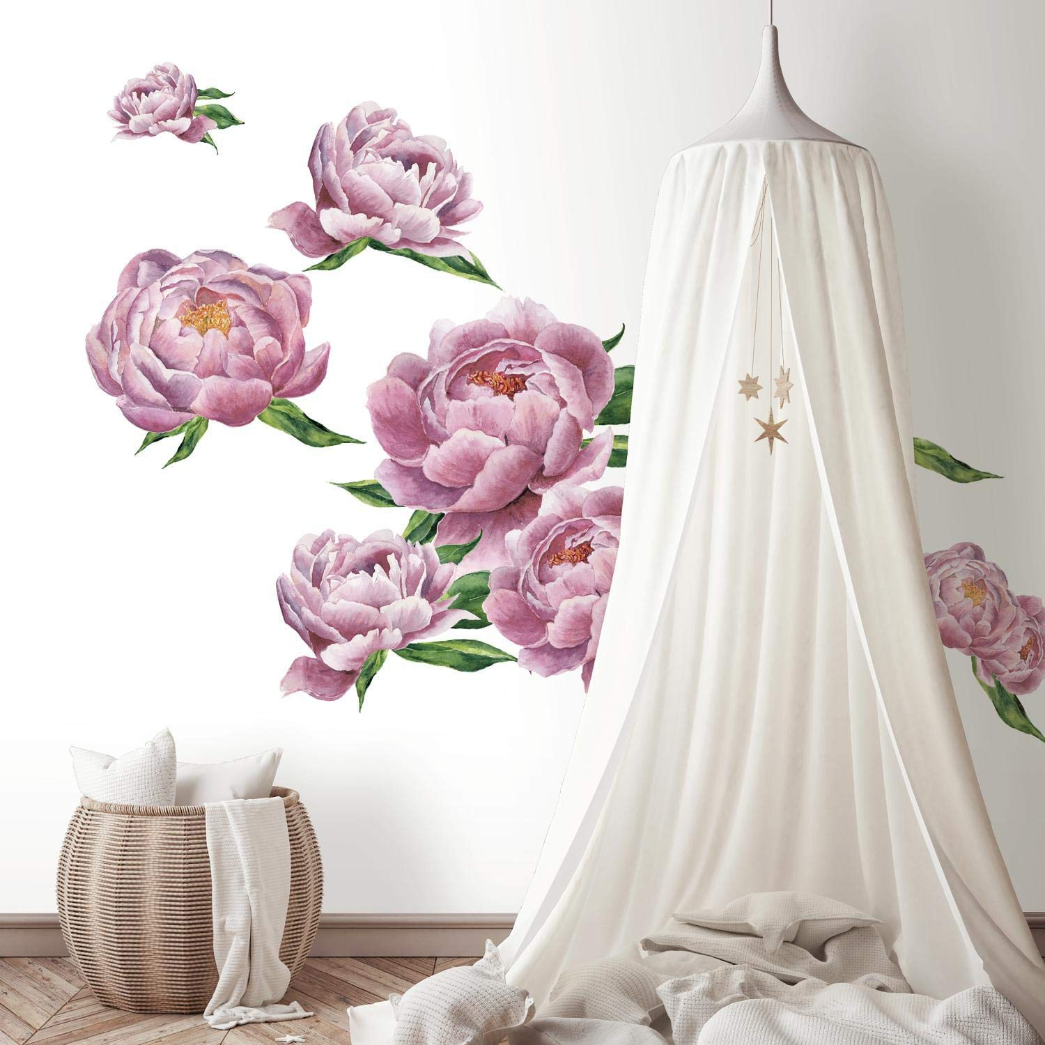 RoomMates Large Peony Peel And Stick Giant Wall Decals