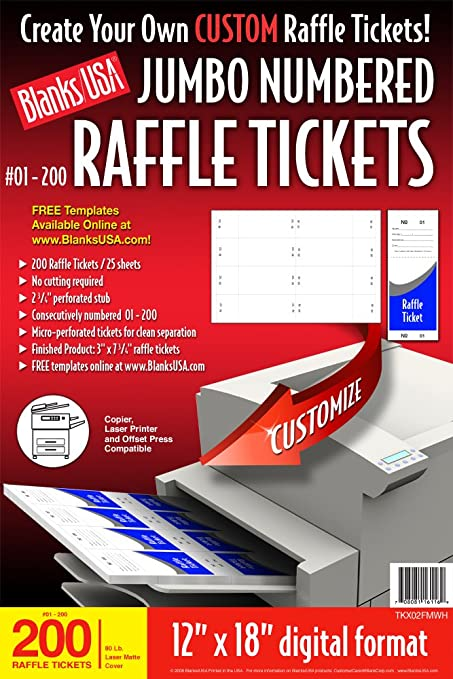 how to make raffle tickets for free