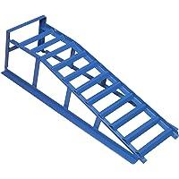 cartrend Oprijplaat, blauw, draagkracht 1000 kg, voor banden tot 195 mm breedte, met overrijbeveiliging, 1 stuk, hefbrug…
