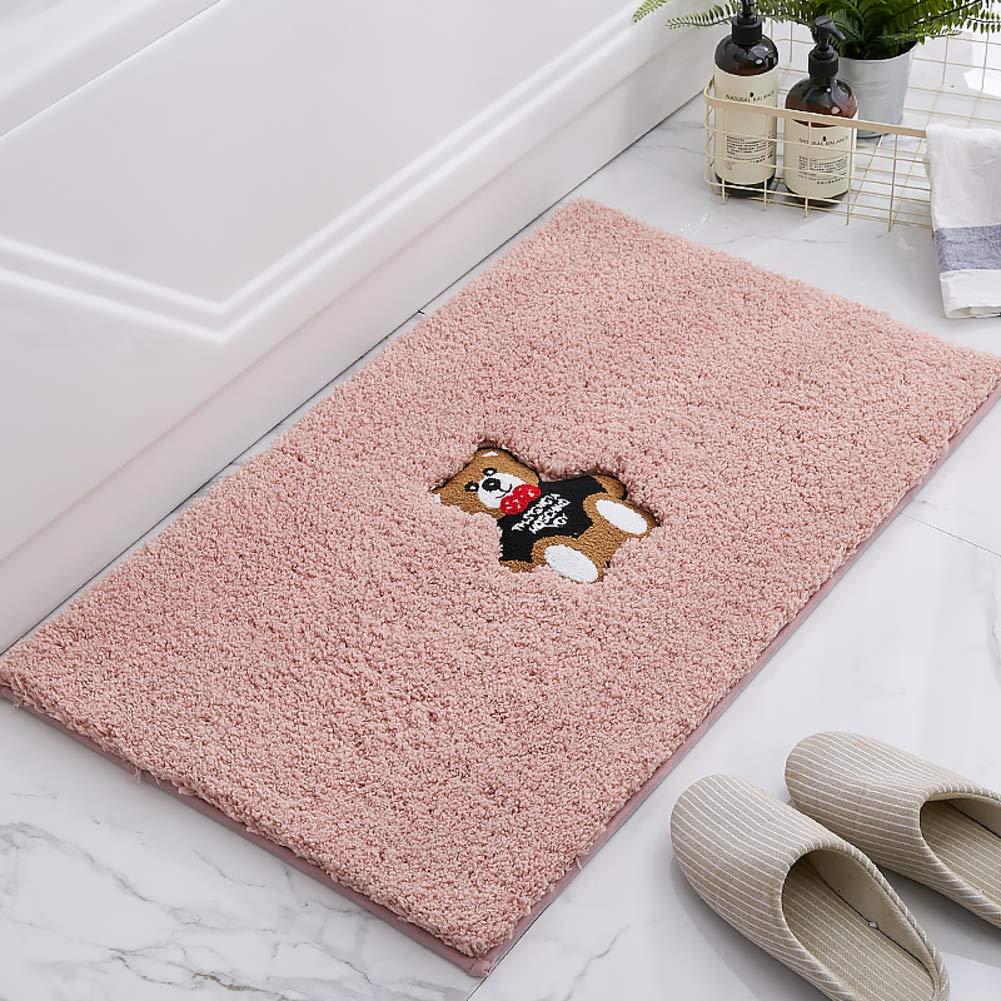 Pink 40x60cm(16x24inch) Door mat,Entrance Rug Area Rug Thickened Non-Slip Fluffy Rugs Indoor Doormat-red 60x90cm(24x35inch)