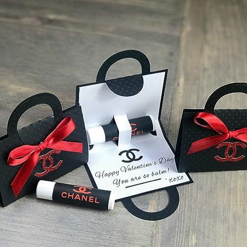 ea9f86274e8e42 Amazon.com: Lip Balm Holder Favor Bags New 2019, Red & Black - Set ...