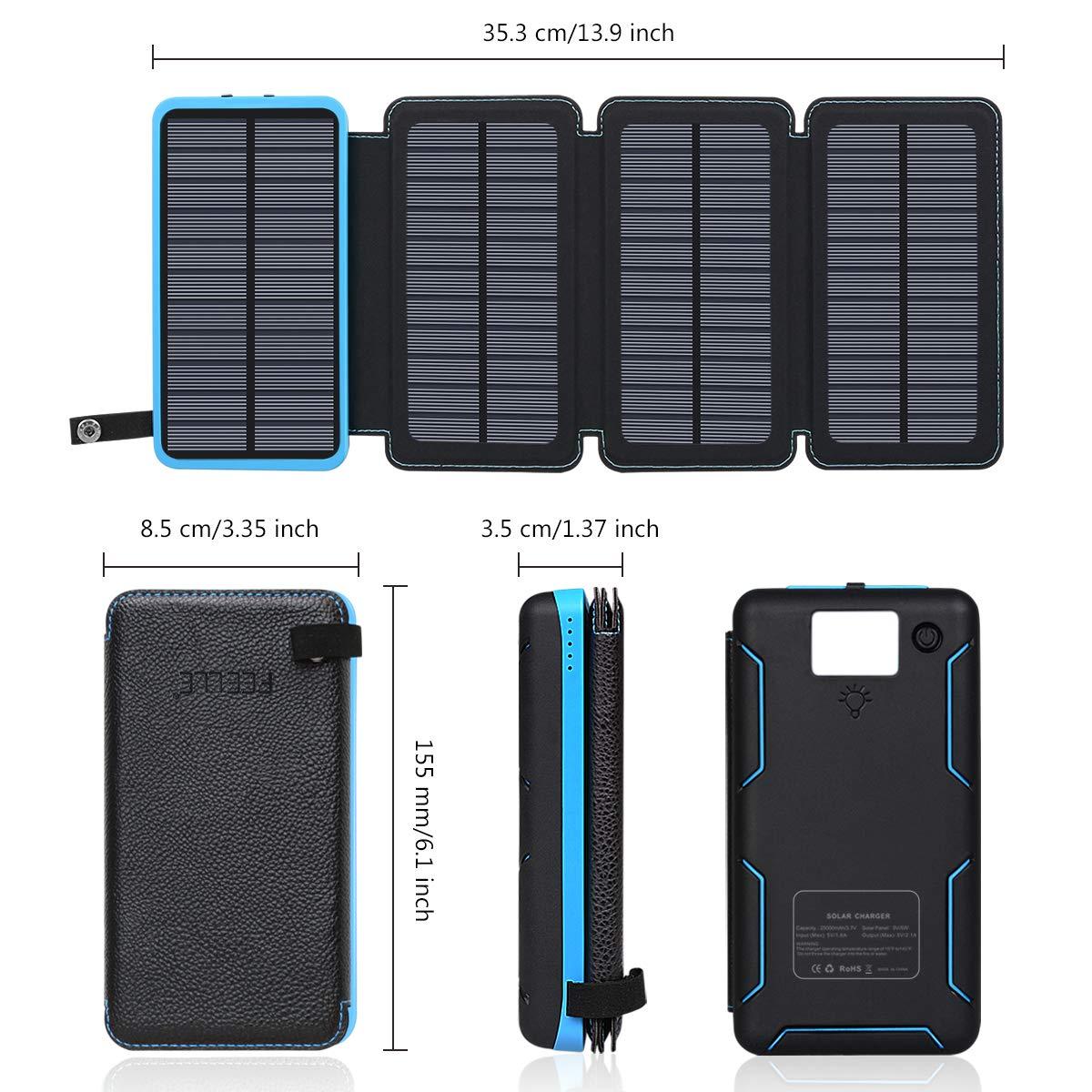 FEELLE Solar Portable Power Bank