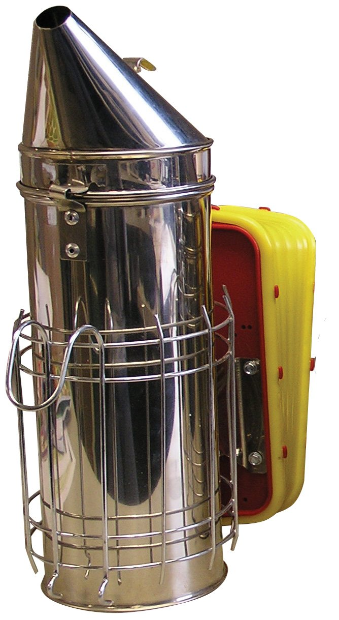 Mann Lake HD540 Stainless Steel Smoker with Guard, 4 by 10-Inch