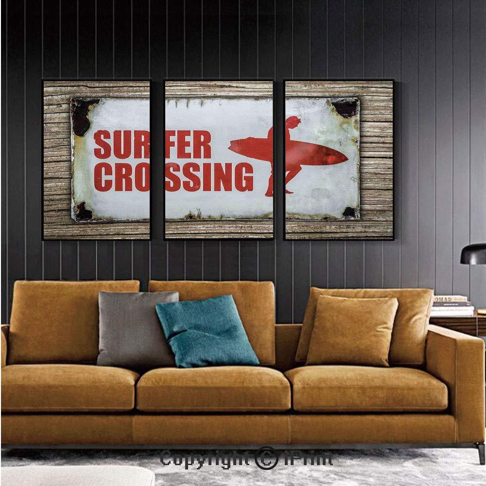 Mural de pared para recámara, surf, fin de semana, concepto con ...