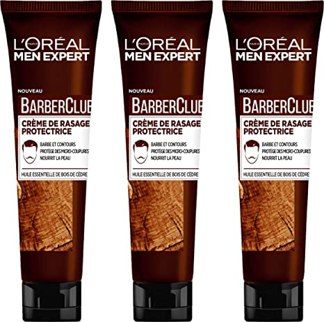 L Oréal Men Expert Barberclub Crème de Rasage Homme 150 ml - Lot de ... 5c9dc138516