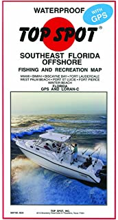 Map South Florida.Amazon Com Top Spot N210 South Florida Offshore Fishing Map