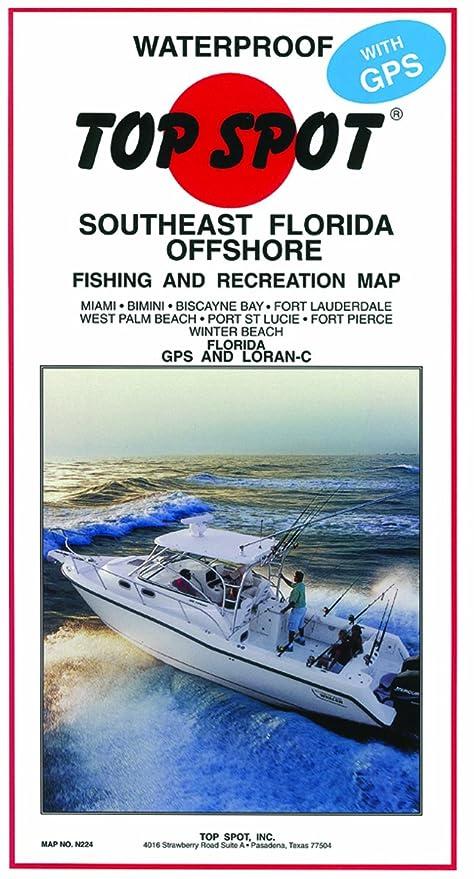 Map Of South Florida.Amazon Com Top Spot Map South Florida Offs Miami Winterbeach