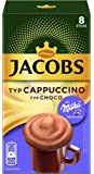 Jacobs Instant Typ Cappuccino Milka, 8 Kaffee Sticks pro Packung, 10er Pack (10 x 144 g)