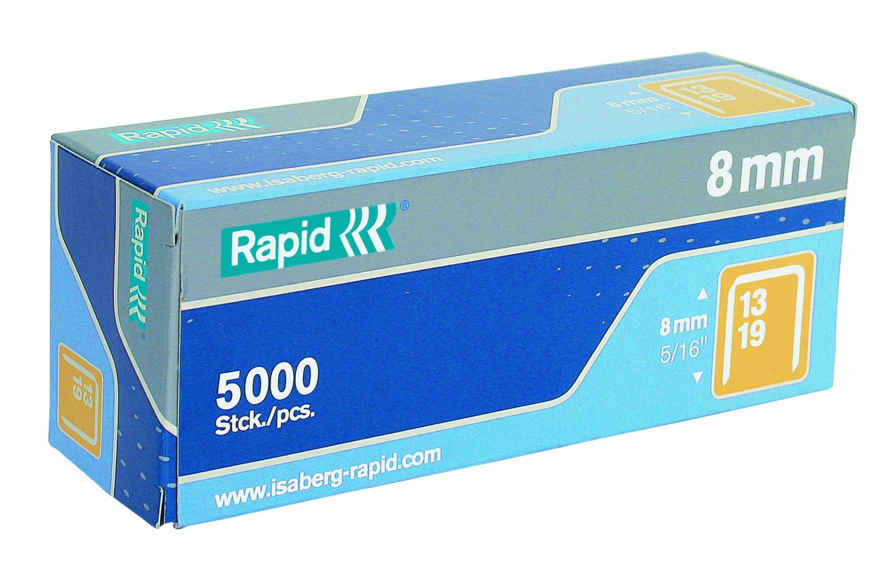 Rapid 23391500 5/16-Inch 19 Series Fine Wire Staples with R19E and R23, 5000 Per Box by Rapid