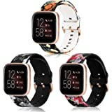 Koreda Compatible with Fitbit Versa/Fitbit Versa 2/Fitbit Versa Lite Edition Bands Sets, Soft Floral Print Sport Watch Strap Replacement for Fitbit Versa 2/Special Edition