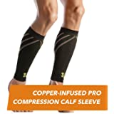CopperJoint – Copper-Infused PRO Compression Calf Sleeve, High-Performance Design Promotes Proper Blood Flow Offers Superior Compression & Support All Lifestyles, Pair