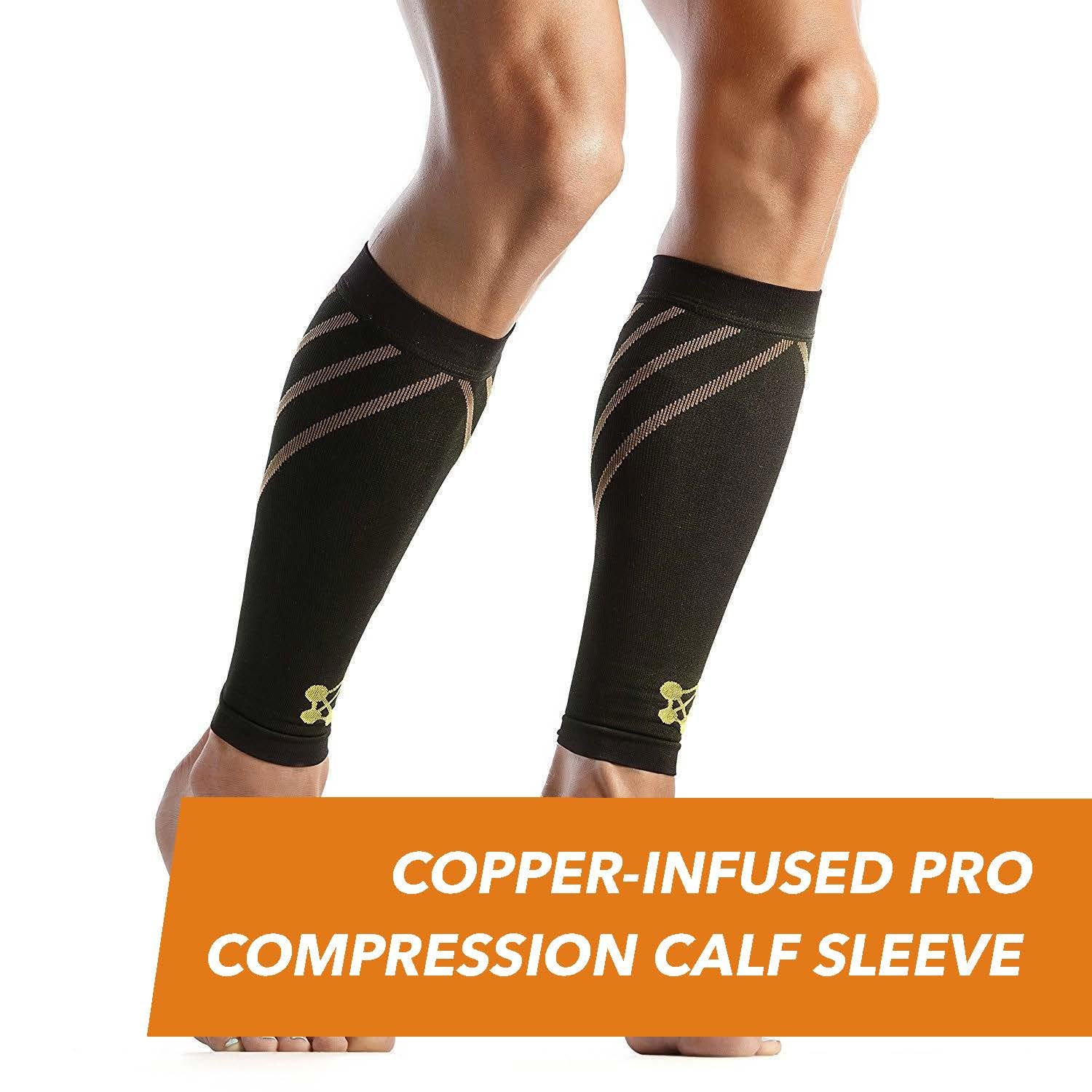 CopperJoint PRO Compression Calf Sleeve, Pair (L) by CopperJoint