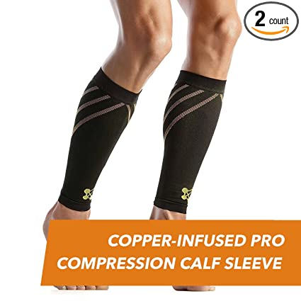 b7c066958f CopperJoint – Copper-Infused PRO Compression Calf Sleeve, High-Performance  Design Promotes Proper Blood Flow and Offers Superior Compression & Support  for ...