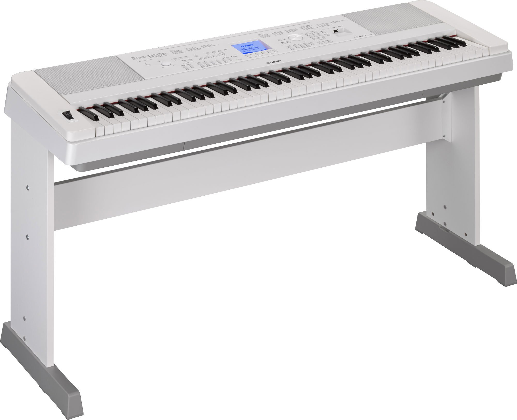 Yamaha DGX660B 88-Key Weighted Digital Piano with Furniture Stand, White by YAMAHA