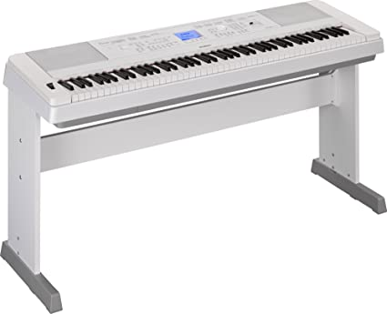 Yamaha DGX660B 88-Key Weighted Digital Piano with Furniture Stand, White