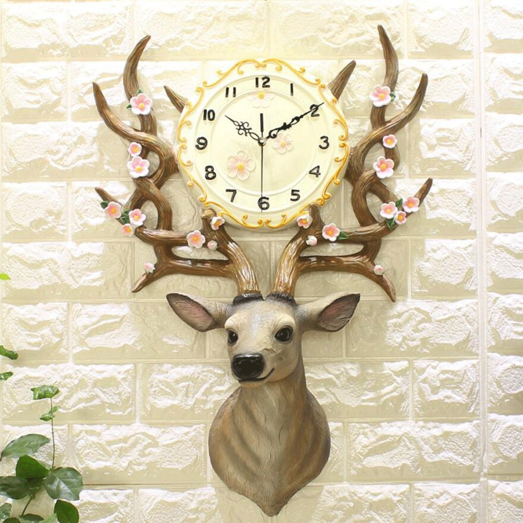 GAOLILI ディアヘッドクロックリビングルーム創造的な高級装飾時計現代ファッションパーソナリティウォールクロック ( 色 : B ) B07C3N3141 B B