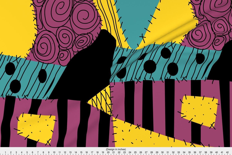Amazon.com: Spoonflower Sally Fabric Halloween Patchwork Rag Doll by ...