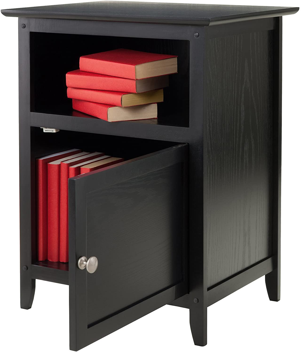 Winsome Wood Henry Accent Table, Black: Furniture & Decor