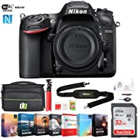 "Nikon D7200 (1554) DX-Format 24.2MP Digital HD-SLR Body with 3.2"" LCD WiFi NFC w/ 32GB Deluxe Accessory Bundle Includes, Deco Gear Camera Bag (Medium) and Photo and Video Professional Editing Suite"