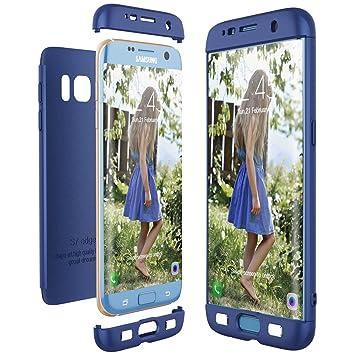 CE-Link Funda para Samsung Galaxy S7 Edge Rigida 360 Grados Integral, Carcasa S7 Edge Silicona Snap On Diseño Antigolpes Choque Absorción, Samsung S7 ...