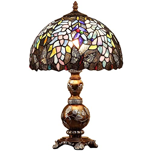 Upgrade Tiffany Style Baroque Replacement Table Lamp Shades, 8 Width White