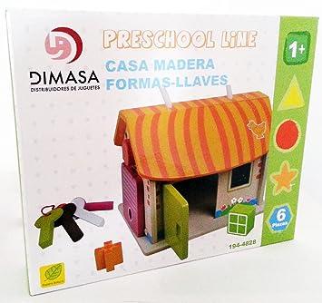 LlavesAmazon Formas Y Casa Juegos Madera esJuguetes EHDI29