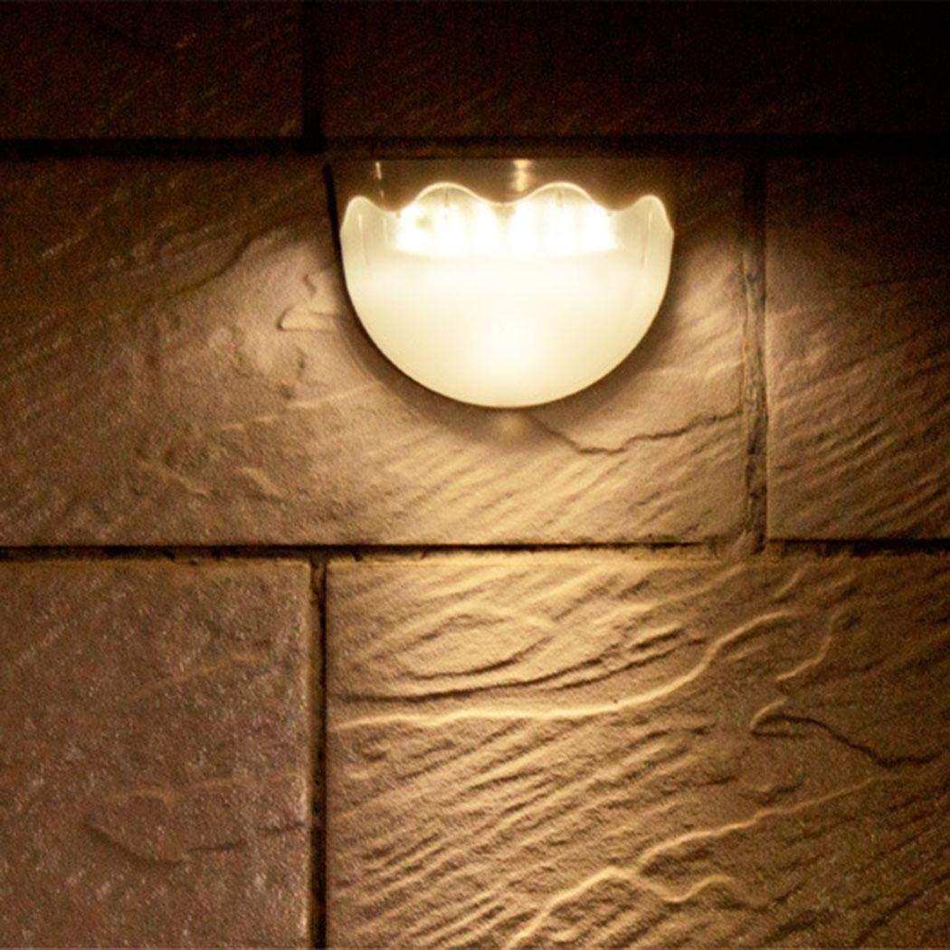 pairris Lampada da Paesaggio a Prova di Pioggia per Esterno a Luce Solare a semicerchio Lampade da Parete