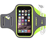 """iPhone 6 Plus Armband, Haissky HSK-65 Sport Bike Jogging Running Lycra Armband Case Cover for iPhone 6 Plus 6s Plus 5.5"""" Samsung Galaxy S7 Edge Arm Band (Green)"""