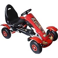 HOMCOM HomComCoche de Pedales Go Kart Racing Deportivo
