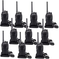 Retevis RT27 2 Way Radios Walkie Talkie Rechargeable Batteries Charger 22CH Scrambler VOX Two Way Radios(Black, 10 Pack)