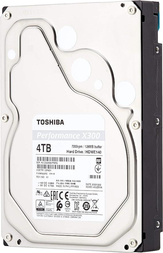 Toshiba X300 4tb 7200rpm 128mb 3 5 Sata Computer Zubehör
