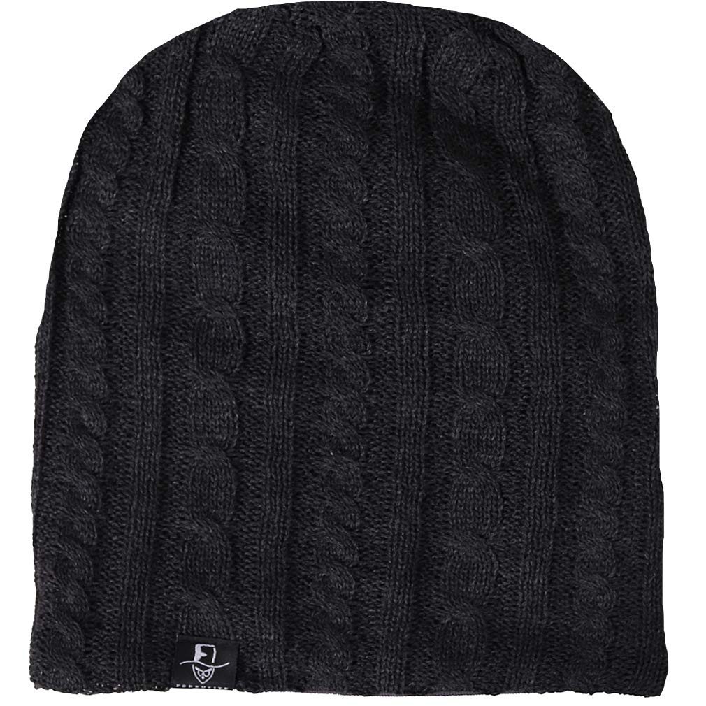 FORBUSITE Mens Slouchy Long Oversized Beanie Knit Cap for Summer Winter
