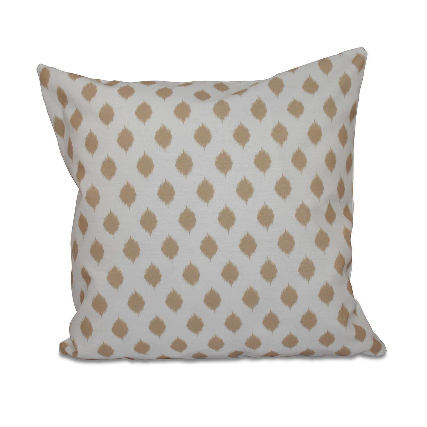 E by design Cop-Ikat Geometric Print Pillow 18-Inch Length Spring Navy