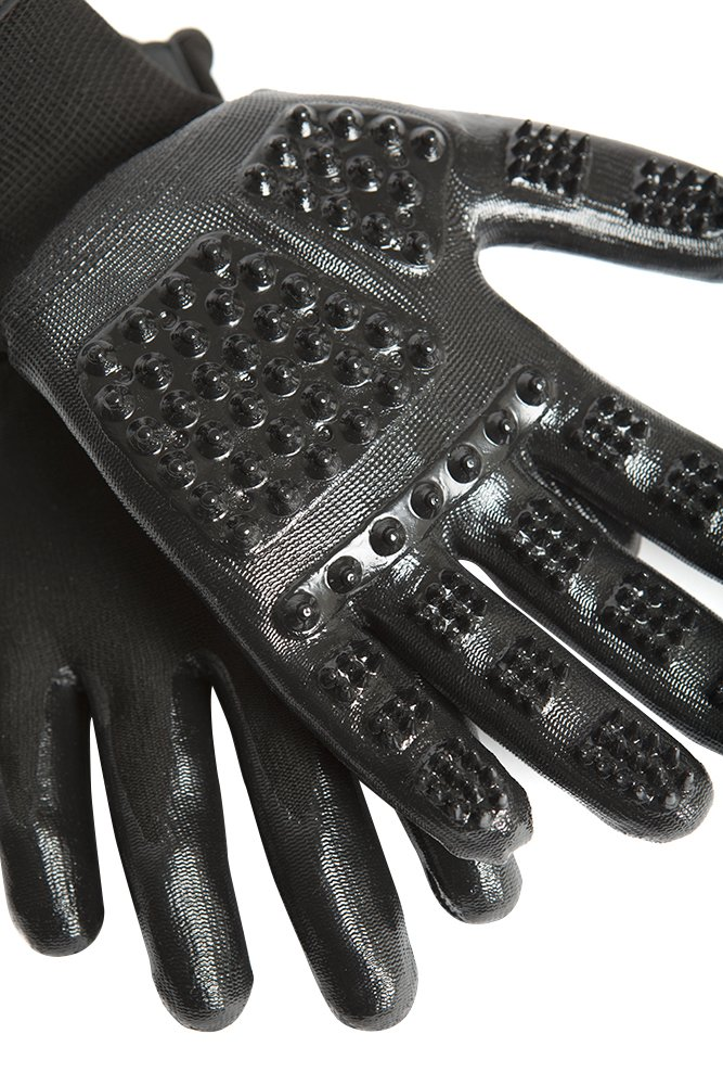 Award Winning Handson Gloves for Shedding Grooming De-Shedding Horses//Dogs//Cats//Livestock//Small Pets #1 Ranked Bathing