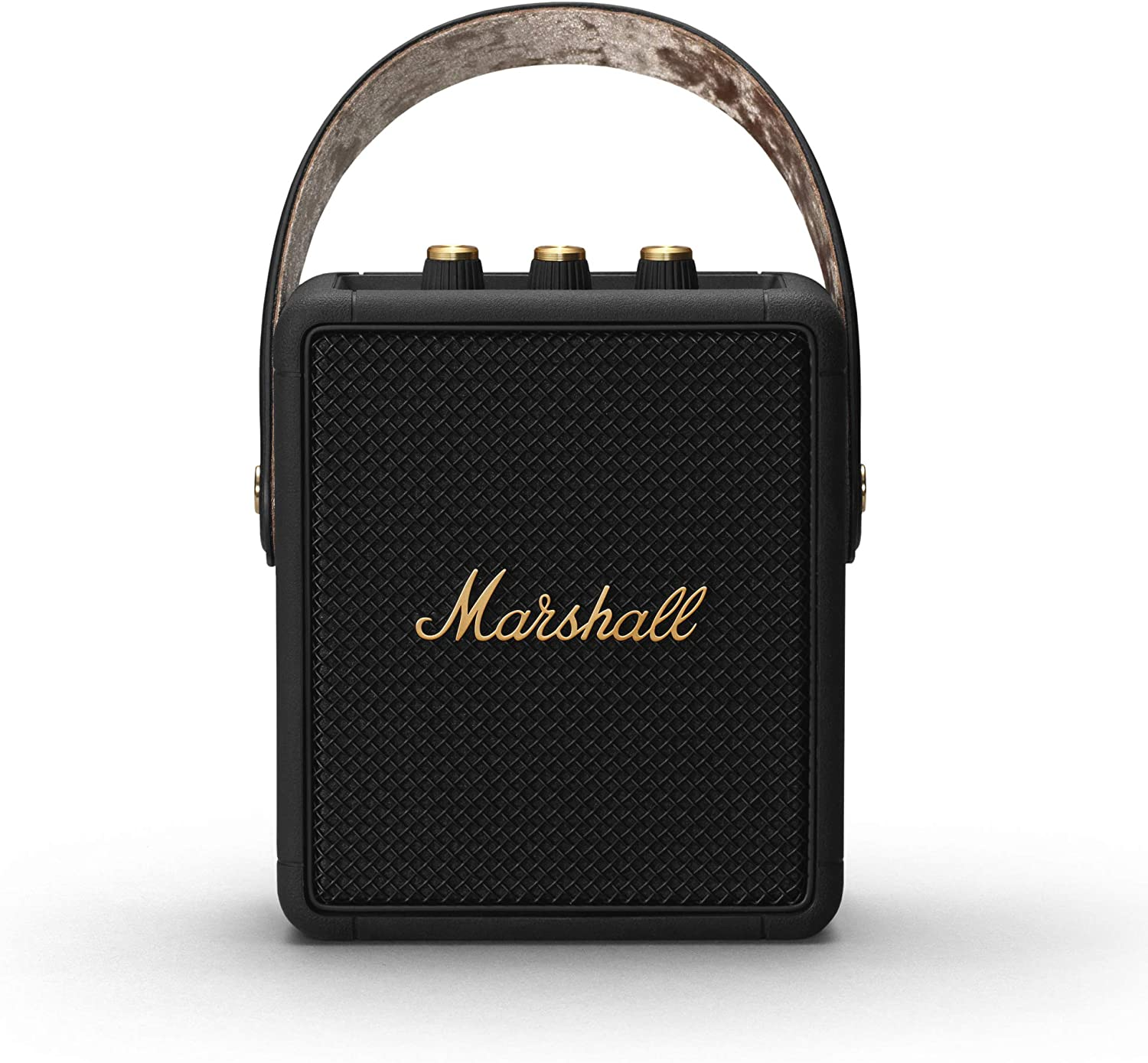 Marshall Stockwell II Bluetooth Altavoz, Negro/Latón (Exclusivo de Amazon)