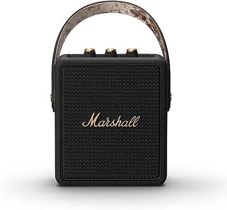Marshall Stockwell Ii Tragbarer Lautsprecher Schwarz Und Messing Exklusiv Bei Amazon Audio Hifi